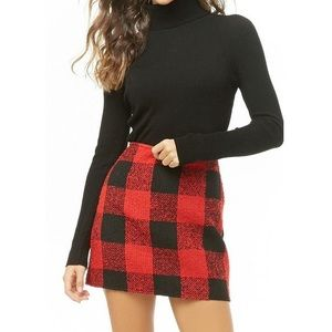 Forever 21 Red Buffalo Plaid Mini Skirt